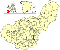 Location of Alpujarra de la Sierra