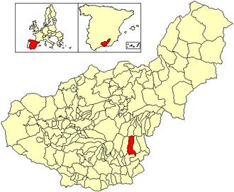 Alpujarra de la Sierra - Image: Location Alpujarra de la Sierra