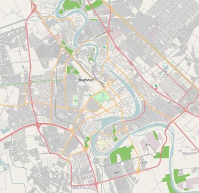 قالب:خريطة مواقع العراق/بغداد