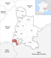 Locator map of Kanton Le Tricastin 2019.png