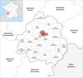 Locator map of Kanton Trélissac 2019.png