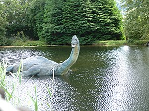 Loch Ness Monster - Reconstruction of Nessie as a plesiosaur outside the Museum of Nessie