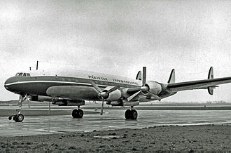 Pakistan International Airlines - A Lockheed 1049C Super Constellation at London's Heathrow Airport, circa 1955