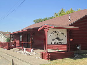 West, Texas - Image: Log Cabin Fellowship, West, TX IMG 4903