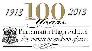 Parramatta High School - Image: Logoofparramattacen