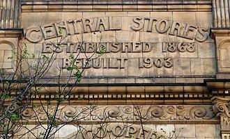 Powis Street - Detail RACS Central Stores, 1903