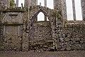 Lorrha Priory of St. Peter Choir South Wall Tomb Niche 2010 09 04.jpg