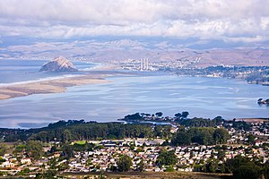 Los Osos, California - View of Los Osos and Morro Bay from Broderson Hill.