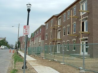 Phoenix Hill, Louisville - Liberty Green, a mixed-income residential complex under construction.