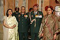 Lt. Gen. P.C. Bhardwaj, VCOAS with the Chief of Army Staff, Gen. V.K. Singh, during his farewell, in New Delhi on November 30, 2010.jpg