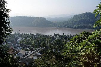 The Mekong at Luang Prabang , Laos