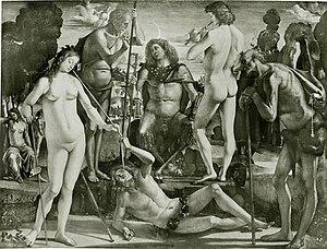 Luca Signorelli - Education of Pan, 1490s.