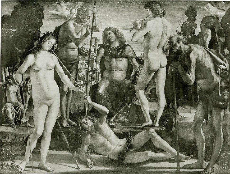 Luca signorelli, educazione di Pan, distrutto