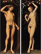 Lucas Cranach d.Ä. - Adam und Eva (Gemäldepaar), Norton Simon Museum.jpg