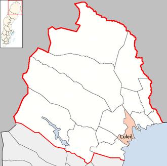 Luleå Municipality - Image: Luleå Municipality in Norrbotten County