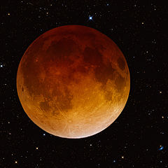 Total Lunar Eclipse, April 15, 2014, by Robert Jay GaBany (Wikicommons)