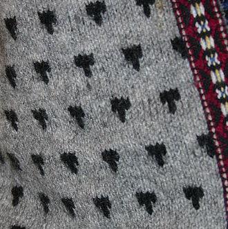 Lusekofte - Detail of lusekofte pattern.