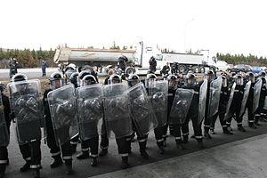Mótmæli vörubílstjóra 23. apríl 2008