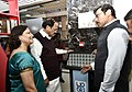 M. Venkaiah Naidu and the Minister of State for Information & Broadcasting, Col. Rajyavardhan Singh Rathore visiting the Publications Division (DPD), at Soochna Bhawan, in New Delhi (1).jpg