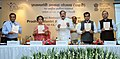 M. Venkaiah Naidu releasing the publication, at the National Conference for reviewing the progress of Pradhan Mantri Awas Yojana (Urban) Mission, in New Delhi.jpg