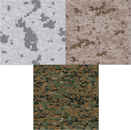 bb9a839ece The 3 MARPAT patterns: experimental winter, traditional desert, and  woodland pattern.