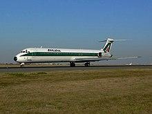Un MD-82 dell'Alitalia