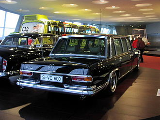 Mercedes-Benz 600 - 600 Pullman in Mercedes Museum, formerly transporting guests of the German Government