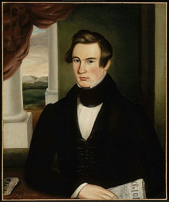 Martin Johnson Heade - Image: MJ Heade Portrait of a Man, 1840
