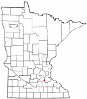 Location of the city of Elko New Market within Scott County, Minnesota