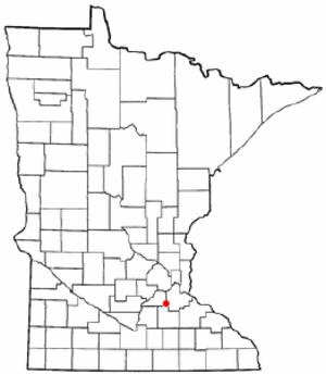 Elko New Market, Minnesota - Image: MN Map doton Elko