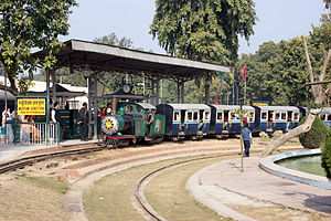 National Rail Museum, New Delhi - Mini train that takes visitors on a tour around the museum