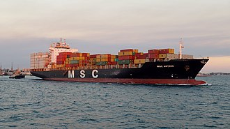 Mediterranean Shipping Company - Image: MSC Astrid, Fremantle, 2015 (02)