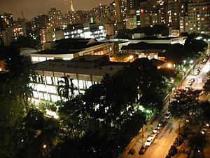 Mackenzie Presbyterian University - São Paulo Campus at night