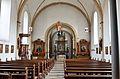 Madfeld, St. Margaretha Blick durch die Kirche auf den Altarraum.JPG