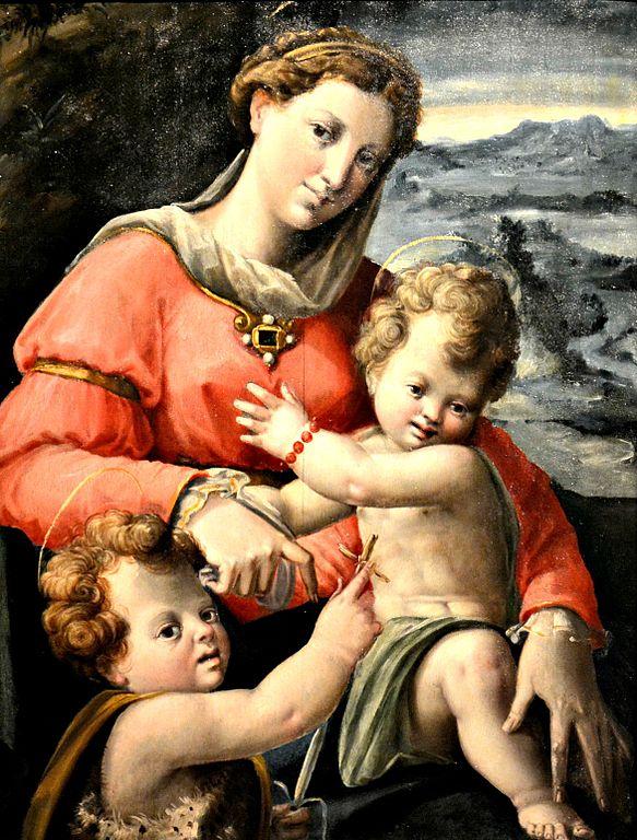 File:Madonna con Bambino e san Giovannino, Giovanni ...