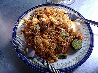 Malaysian Indian cuisine - Maggi goreng