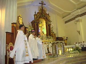 Diocese of Malolos - The Diocese's incumbent Malolos Bishop José Francisco Oliveros, in a solemn Mass at the Malolos Cathedral.