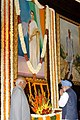 Manmohan Singh, paying tributes at the portrait of the former Prime Minister, late Smt. Indira Gandhi on the occasion of her 90th birth anniversary, at Central Hall, Parliament House, in New Delhi on November 19, 2007.jpg