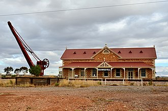 Mannahill, South Australia - The railway station.
