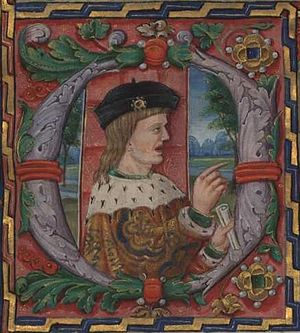 Manuel I of Portugal - Manuel I of Portugal, in a miniature from the frontispiece of the Livro 1 de Além-Douro of the Leitura Nova (penned 15??-1521).