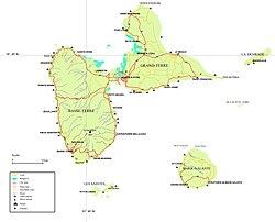 guadeloupe karta Arrondissements of the Guadeloupe department   Wikipedia guadeloupe karta