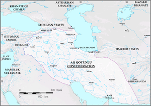Giosafat Barbaro - The Aq Qoyunlu empire by the end of Uzun Hassan's reign in 1478