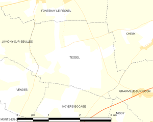 Operation Martlet - Image: Map commune FR insee code 14684