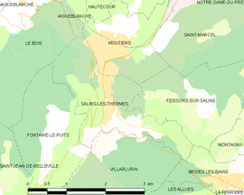 Mapa obce Salins-les-Thermes