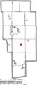 Map of Ashland County Ohio Highlighting Hayesville Village.png
