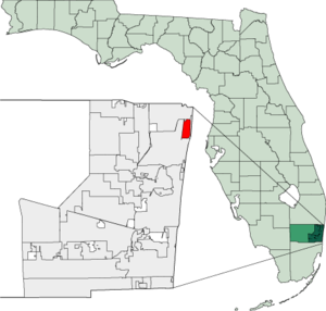 Map of Florida highlighting Lighthouse Point.png