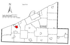 Map of Girard, Erie County, Pennsylvania Highlighted.png