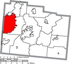 Location of Beavercreek in Greene County