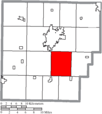 Location of Jackson Township in Hancock County.