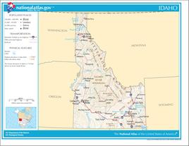Karte von Idaho